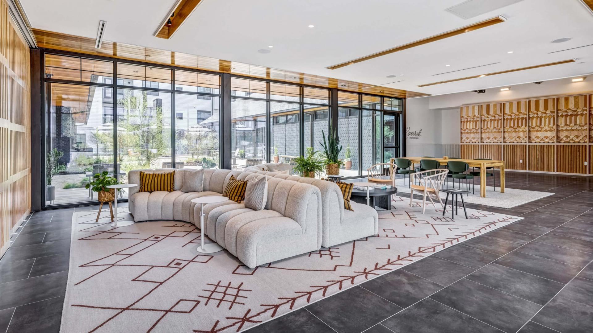 Beautiful clubroom with lounge seating