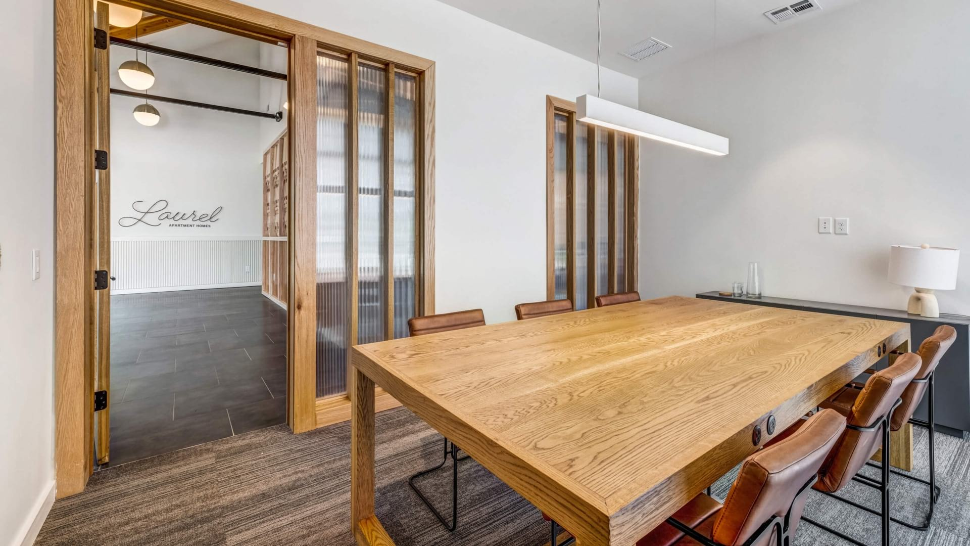 Conference room with modern amenities